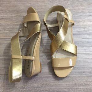[Ellen Tracey] Gold Jadyn Sandals